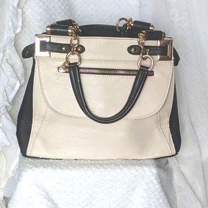 COLETTE by Colette Hayman Black & Cream Tote handbag